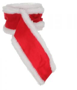 EDELMAN Nastro Natale Rosso Con Pelo Natale Ghirlande E Frange