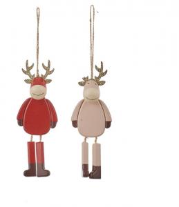 EDELMAN Decorazione Renna 2 Ass Natale Decorazioni E Oggettistica