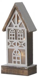 EDELMAN Casa Marrone Con Luci A Batteria Natale Decorazioni E Oggettistica