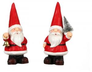 EDELMAN Santa Red 2 Assorted - L7Xw7Xh17Cm Babbo Natale