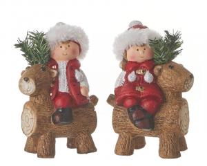 EDELMAN Personaggi Con Renna 2Ass Natale Decorazioni E Oggettistica