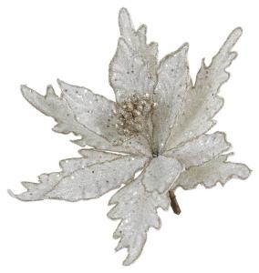 EDELMAN Fiore Bianco Con Clip Natale Decorazioni E Oggettistica