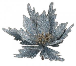EDELMAN Fiore Con Clip Colore Blu Natale Decorazioni E Oggettistica