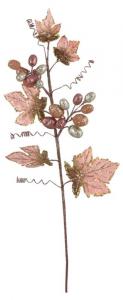 EDELMAN Rametto D'Uva Colore Rosa Natale Decorazioni E Oggettistica