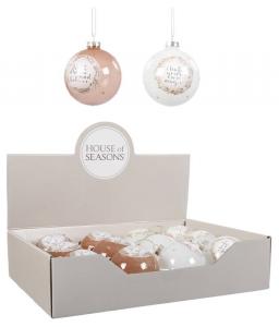 EDELMAN Palline In Vetro Bianco/Rosa Natale Alberi - Sfere E Palline