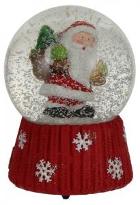 EDELMAN Palla Di Vetro Con Babbo Natale Natale Decorazioni E Oggettistica