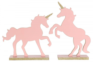 EDELMAN Figura Unicorno Rosa 2Ass Natale Decorazioni E Oggettistica