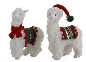 EDELMAN Lama Bianco Con Pelo 2Ass Natale Decorazioni E Oggettistica