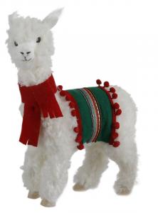 EDELMAN Lama Bianco Con Pelo Natale Decorazioni E Oggettistica