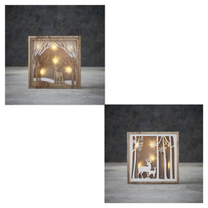 EDELMAN Decorazione Natalizia Da Muro Con Led Bianco Caldo A Batteria Natale