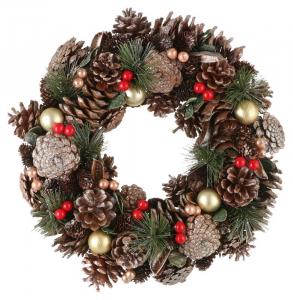 EDELMAN Ghirlanda Con Pigne E Bacche Natale Ghirlande E Frange