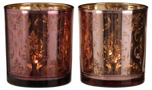 EDELMAN Portacandele Tealight Rosa/Viola Natale Candele E Incensi