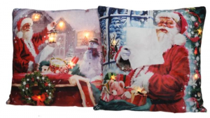 KAEMINGK Cuscino Babbo Natale A Led Luce Bianco Caldo Articolo Da Regalo
