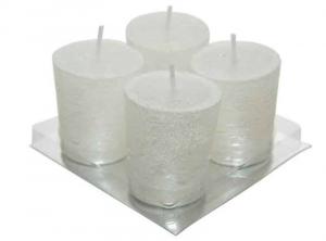 KAEMINGK Set 4 Candele Colore Bianco Natale Candele E Incensi