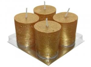 KAEMINGK Set 4 Candele Colore Oro Natale Candele E Incensi