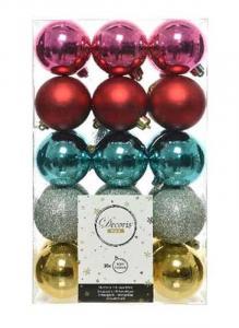 KAEMINGK Confezione 15 Palline Colori E Decorazioni Assortiti Natale Alberi