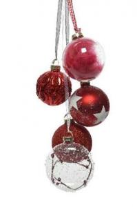 KAEMINGK Gruppo Di Palline Rosso Natale Alberi - Sfere E Palline