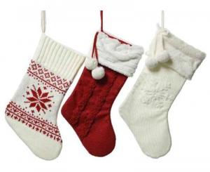 KAEMINGK Calze Natalizie In Acrilico 3Ass Natale Decorazioni E Oggettistica