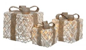 KAEMINGK Confezione 3 Pacchi Natalizi Con Luci A Led A Batteria Natale Luci