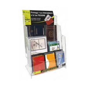 ORNA Set 50 Confezioni Porta Carta D' identità Trasparente 0127 Espositore 0000 Portafoglio