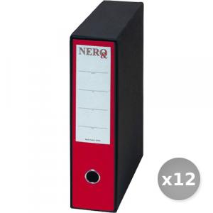 Set 12 BREFIOCART raccoglitore protocollo d8 rosso 0201150 dossier