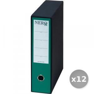 Set 12 BREFIOCART raccoglitore protocollo d8 verde0201150 registratore