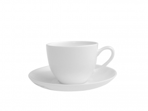 H&H Set Di 6 Tazze Caffè Con Piatti Bone China Cc90 Colazione