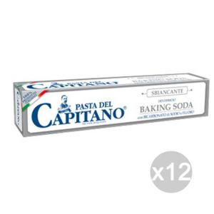 Set 12 CAPITANO Dentifricio Grigio Baking Soda 75 Ml Igiene E Cura Dei Denti