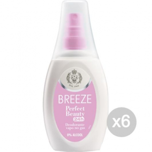 Set 6 BREEZE Deodorante Spray 75 Perfect Beauty Noalcool Cura E Igiene Del Corpo