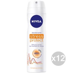 Set 12 NIVEA Deodorante Spray 200 No Stress Donna Cura E Igiene Del Corpo