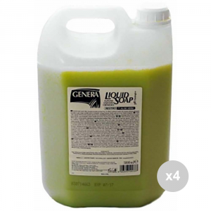 Set 4 GENERA Ricarica sapone liquido tanica neutro idratante lt5