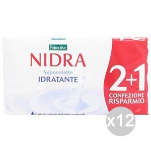 Set 12 NIDRA Sapone Latte 2 + 1 Cura E Pulizia Del Corpo