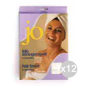 Set 12 Jo Telo Asciugacapelli Microf. 0187 Phon Bellezza E Cosmetica