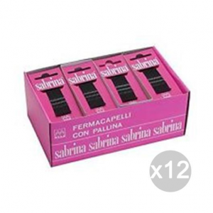 Set 12 SABRINA Komet 40 Forcelle Cm 6 Nere Invisibili Accessorio Per Capelli
