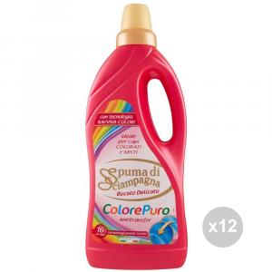 Set 12 SPUMA DI SCIAMPAGNA L. 1 colore puro prodotto per la pulizia della casa