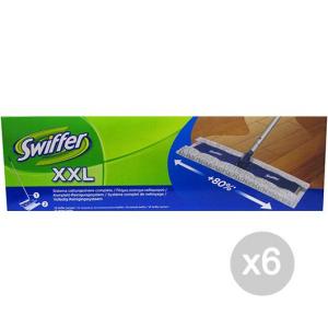 Set 6 SWIFFER Panno Completo Maxi Xxl Kit Sistem Attrezzo Pulizia Della Casa