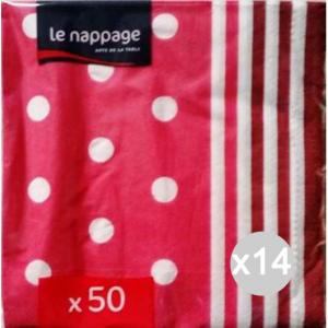 Set 14 NAPPAGE Tovaglioli 2Veli 33/33 X 50 Mixy Fuxia Cucina E La Tavola