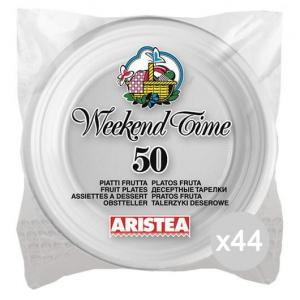 Set 44 ARISTEA 50 Piatto Frutta Bianco Di.17 Accessorio Per La Tavola E La Cucina