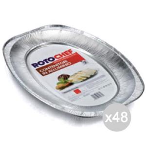 Set 48 ROTOFRESH Vassoio Alluminio C12 Portata Picco.X2 Preparazione Cibi E Cucina