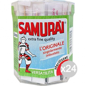 Set 24 SAMURAI 150 Stuzzicadenti Barattolo Imbustati Cucina E La Tavola