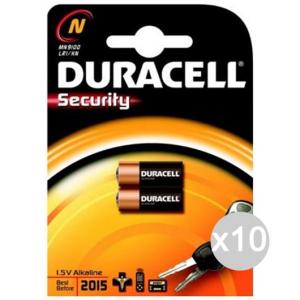 Set 10 DURACELL 2 Microstilo Mn9100 Uso Sveglie Pila Batteria Elettrica