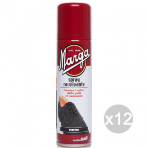 Set 12 MARGA Spray Nero Camoscio Ravvivante Per Calzature E Scarpe