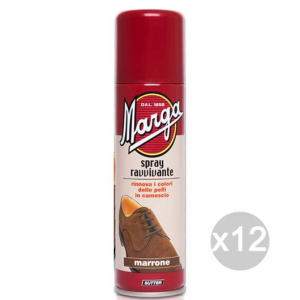 Set 12 MARGA Spray Marrone Camoscio Ravvivante Per Calzature E Scarpe