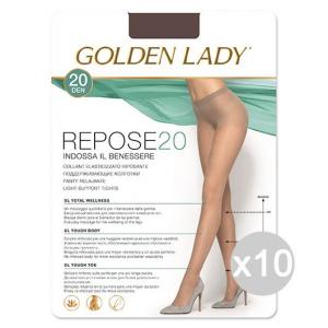 Set 10 GOLDEN LADY Repose 20 Visone Xl Calze Collant Da Donna Abbigliamento E Accessori