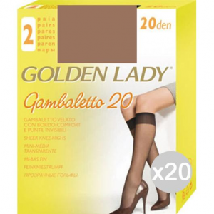 Set 20 GOLDEN LADY Gambaletto Daino X2 Filanca 20 Den Calza Da Donna Accessorio Moda