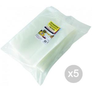 Set 5 VIROSAC Sacchi Sottovuoto 35X45 X 100 Contenitore Per Alimenti