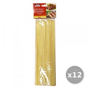 Set 12 Spiedini 25 Cm * 100 Pezzi Sonda - Stuzzicadenti