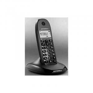 MOTOROLA C1001L Black Dect Eco Moto Telefonia Fissa e Cordless