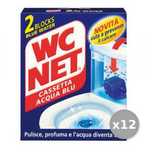 Set 12 WC NET Tavolette WC CASSETTA Acqua Blu * 2 Pezzi Detergenti Casa