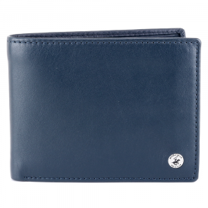 Man wallet Beverly Hills Polo Club CLASSIC BH-934 BLU